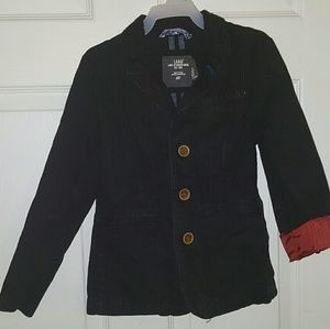 Boys black pinstripe blazer by H&M size 7